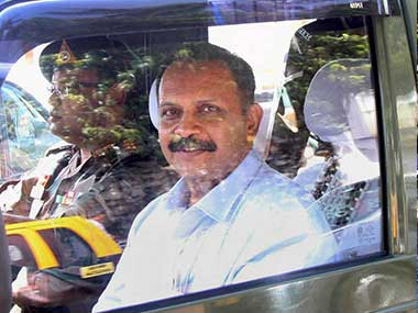 Shrikant Prasad Purohit, released on bail in the 2008 Malegaon bomb blast case, outside the Sessions Court in Mumbai on Thursday. PTI