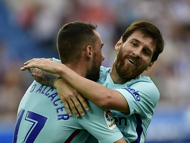 Lionel Messi missed a penalty but scored twice to help Barcelona beat Alaves. AP