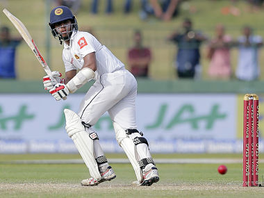 Sri Lanka's Kusal Mendis plays a shot during their second cricket test match against India in Colombo, Sri Lanka, Saturday, Aug. 5, 2017. (AP Photo/Eranga Jayawardena)