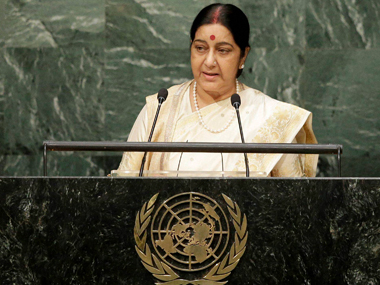 File image of Union external affairs minister Sushma Swaraj. PTI