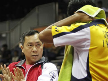 Malaysian coach Tan Kim Her was hired by Badminton Association of India earlier in 2016. Credit: www.glasgow2017.com