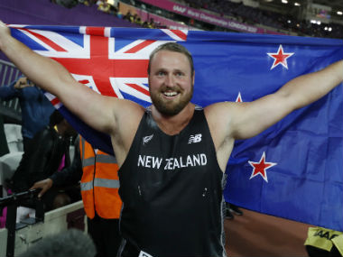 New Zealand's Tomas Walsh bags his maiden world title in London on Sunday. Reuters