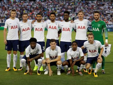 Tottenham team players pose before a pre-season friendly match. Reuters
