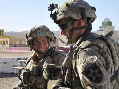 File image of the US Army in Afghanistan. AP
