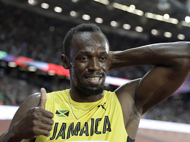 Jamaica's Usain Bolt after placing third in the men's 100m final during the World Athletics Championships. AP