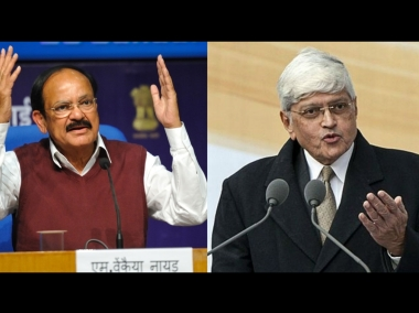 File image of M Venkaiah Naidu and Gopal Krishna Gandhi
