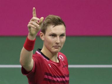 Viktor Axelsen will take on Olympic champion Chen Long. AP