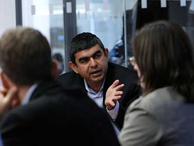 Former Infosys CEO Vishal Sikka. Reuters.