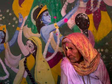 File image of a Vrindavan widow. AP
