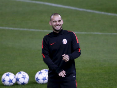 Wesley Sneijder was released by Turkish club Galatasaray, meaning Nice can pick him up for free. Reuters