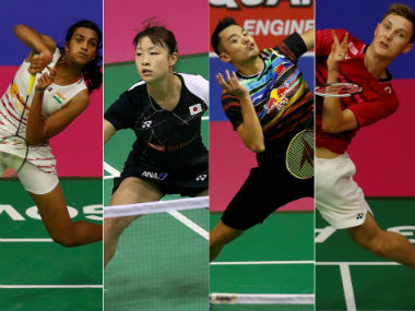 PV Sindhu, Nozomi Okuhara, Lin Dan and Viktor Axelsen will be in action in the final. Agencies