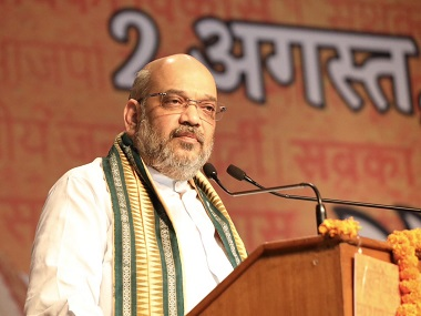 Amit Shah in Haryana addressing a rally. Twitter/@AmitShah
