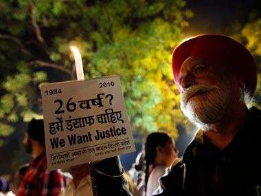 File image of people demanding justice for the 1984 anti-Sikh riots. Reuters
