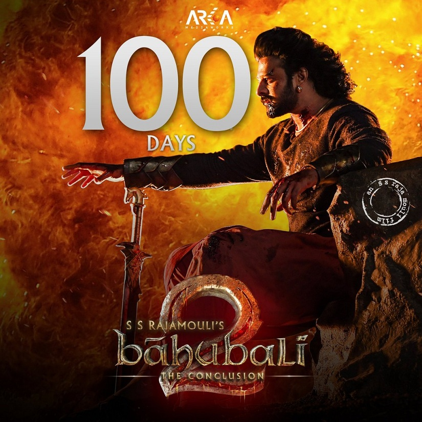 Baahubali 2: The Conclusion (also spelt as Bahubali 2) has now completed 100 days in the theatres. Image via Twitter