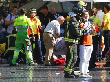 Horror as van rams crowd in Barcelona, Spain/ AP