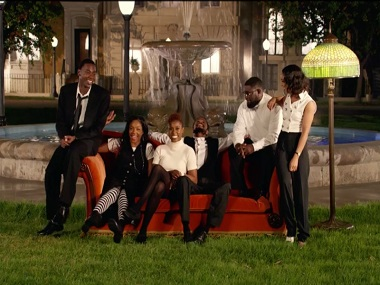 A still from Jay-Z's music video Moonlight featuring an all-black cast.