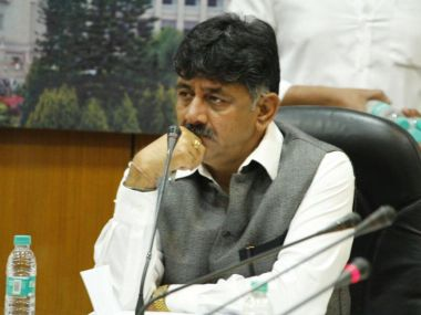 File image of Karnataka power minister DK Shivakumar. Image courtesy: Facebook