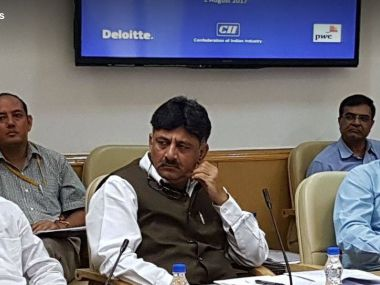 File image of Karnataka energy minister DK Shivakumar. Image courtesy: Facebook