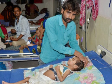 At least 60 children have died in the Gorakhpur hospital in the last 5 days. PTI