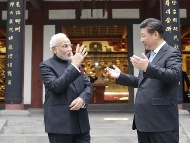 Prime Minister Narendra Modi (left) with Chinese president Xi Jinping. GettyImages