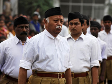 File image of RSS chief Mohan Bhagwat. PTI