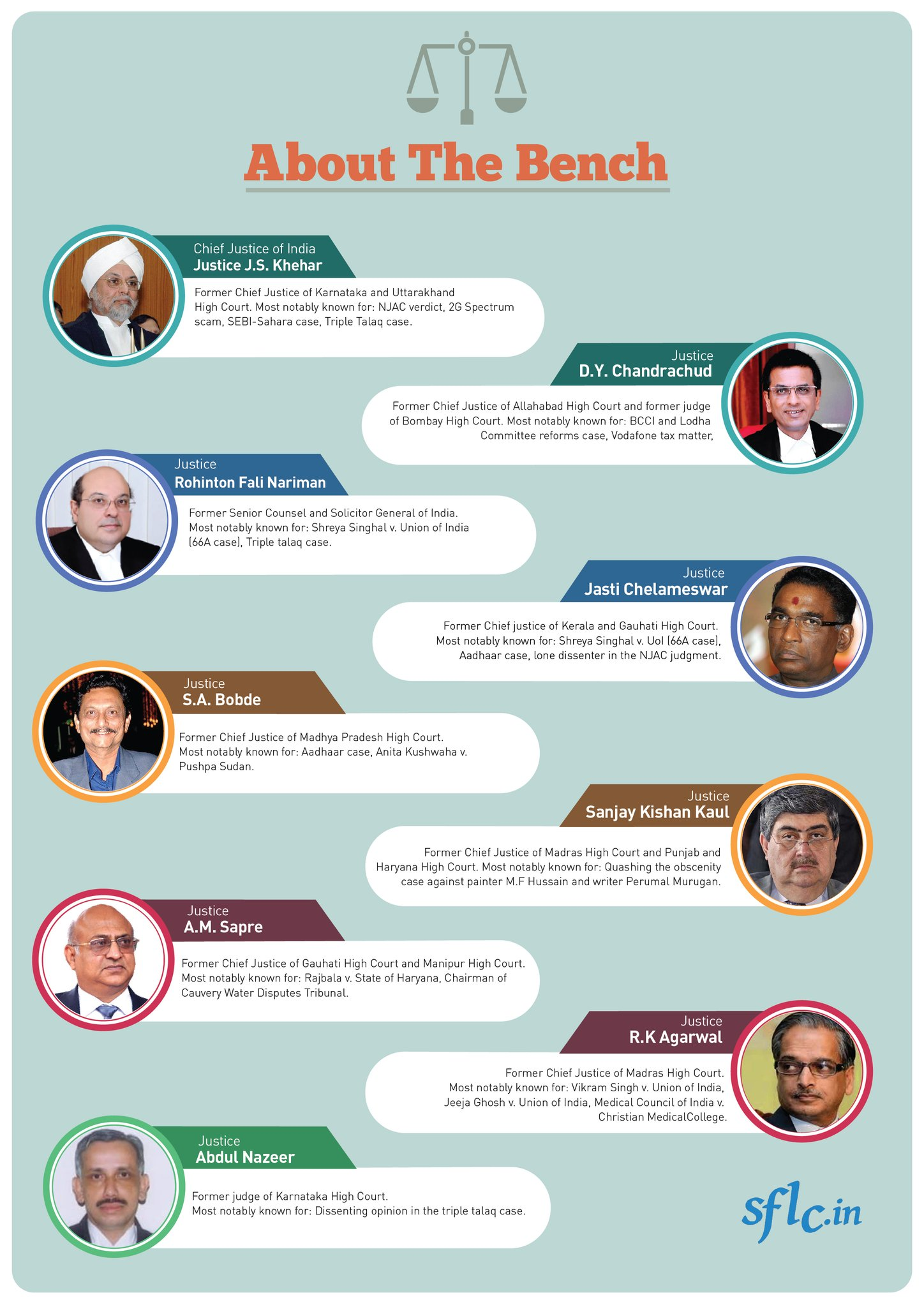 Profile of the judges. Image courtesy: sflc.in