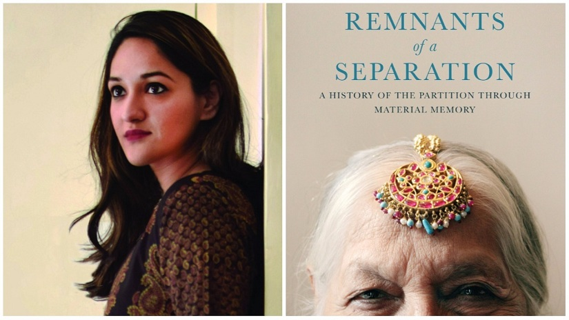 (L) Aanchal Malhotra; (R) cover of Remnants of a Separation. Images courtesy HarperCollins India