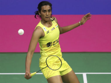 India's PV Sindhu in action the World Badminton Championships final. AP