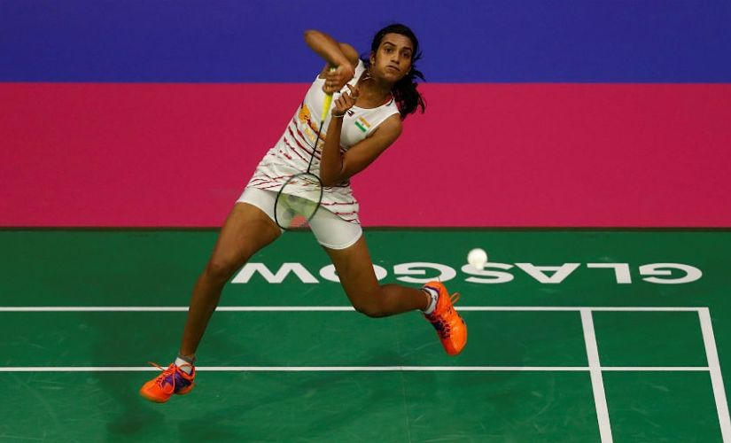 PV Sindhu in action in the Semi-final. Reuters