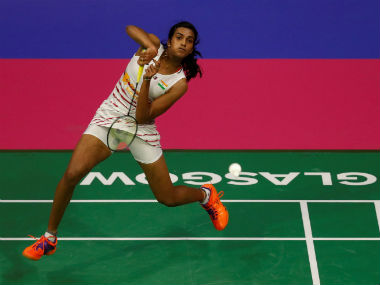 PV Sindhu in action in the semi-final of the World Badminton Championships against Chen Yufei. Reuters