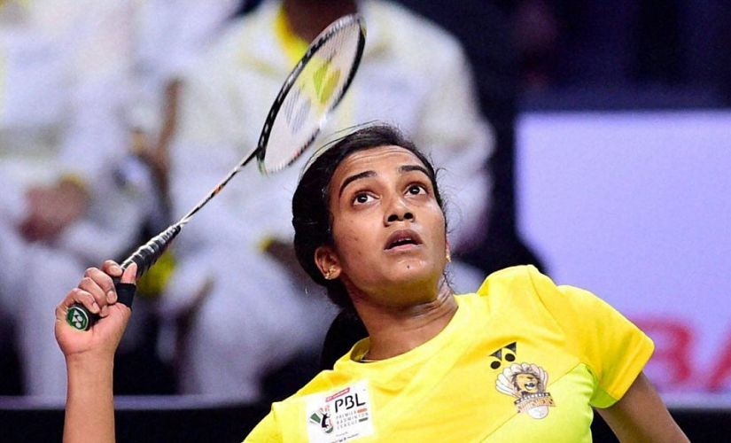 File image of PV Sindhu in action. PTI