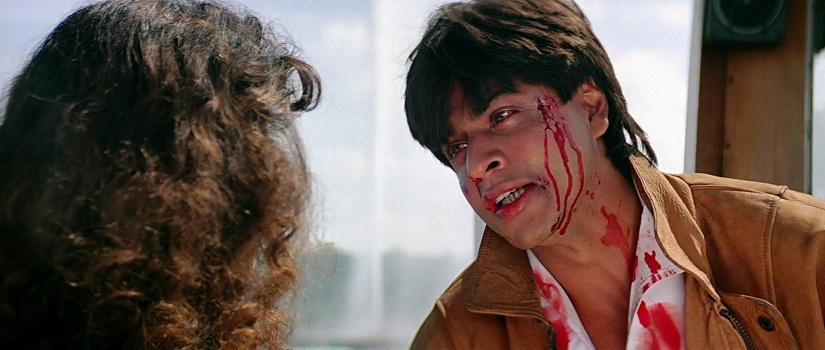 Juhi Chawla and Shah Rukh Khan in a still from Darr. Twitter