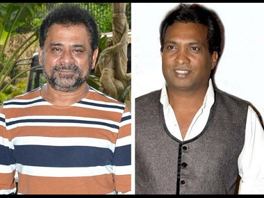 Anees Bazmee and Sunil Pal. Image from Twitter.