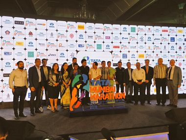 Mumbai Marathon unveils their official sponsors for the next decade- Tata group. Image Courtesy: Twitter @TataMumMarathon