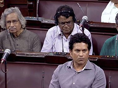 Sachin Tendulkar attended Rajya Sabha on Thursday. PTI