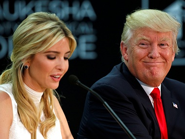 File image of US president Donald Trump and daughter Ivanka Trump. Reuters