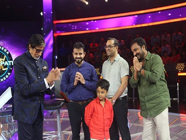 Still from the episode of Kaun Banega Crorepati season 9, in which Super 30 founder and mathematician Anand Kumar had appeared as a participant. Image via Facebook/ Anand Kumar