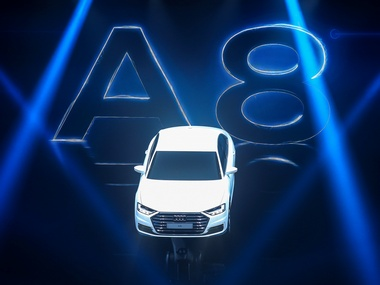 The new Audi A8 is seen during a presentation. Reuters