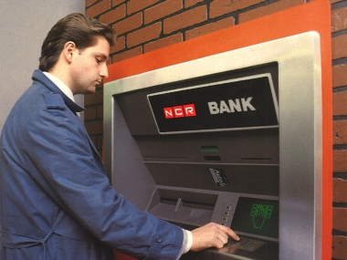 File image of an ATM being used in 1986. AP