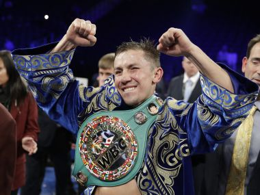 Gennady Golovkin reacts following the fight against Canelo Alvarez. AP