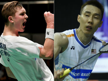 Viktor Axelsen and Lee Chong Wei will face each other for the 11th time on Sunday. AFP