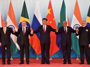 The leaders of the five BRICS countries. Reuters