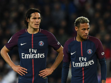 Both Edison Cavani and Neymar went for the penalty kick, with the former getting the chance. AFP