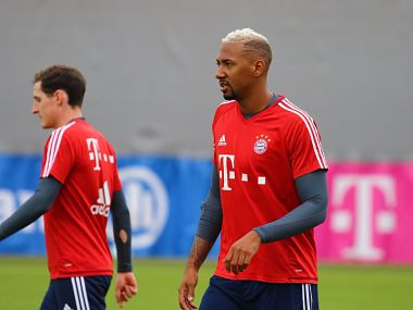 Jerome Boateng in training ahead of Bayern Munich's match against Mainz. Image courtesy: Twitter @FCBayernEn
