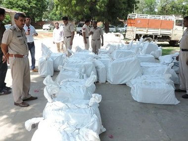 Evidence discovered during Dera Sacha Sauda search operation. Image courtesy: Manoj Dhaka/101Reporters