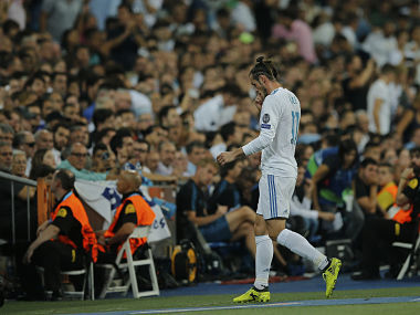 Real Madrid's Gareth Bale walks off the pitch after being substituted. AP