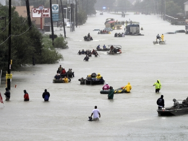 File image of streets flooded by Hurricane Harvey floodwaters. AP