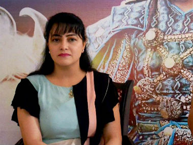 File image of Gurmeet Ram Rahim's adopted daughter Honeypreet Insan. PTI