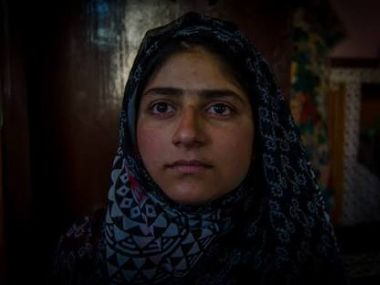 16-year-old Ifrah was in the lawn of her house when the pellets struck her. Image procured by Ishfaq Naseem