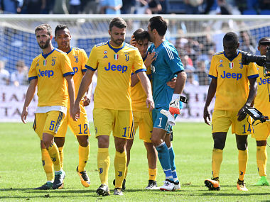 File image of Juventus' players. Reuters